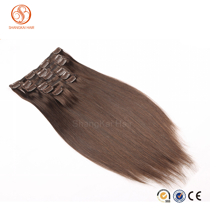 dropship expression straight brazilian hair new style brazilian clip in hair