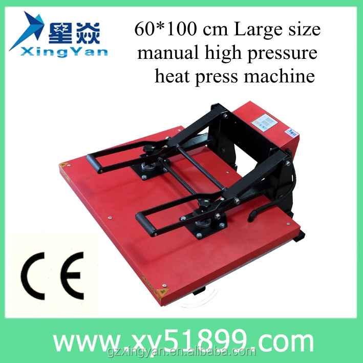 60*100CM Large manual high pressure heat press <strong>machine</strong>