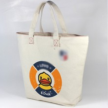 Best selling promotional cotton canvas diaper tote bag with zipper