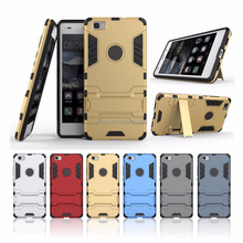 For Huawei Honor 5C Cases Hybrid Dual Heavy Duty Hard Silicone+PC Iron Man Shield 3D Armor Case For Huawei Honor 5C Cover coque