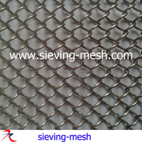 1.2mm wire silver color coil wire drapery, metal chain link mesh curtains