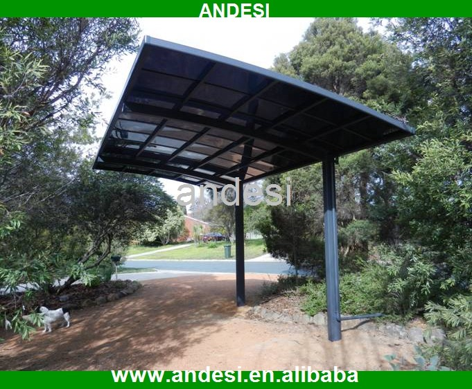 aluminium carports canopy with polycarbonate sheet roof