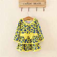 2015 1-8y NEW fashion girl dresses.high quality cheap child frocks.long sleeve dress
