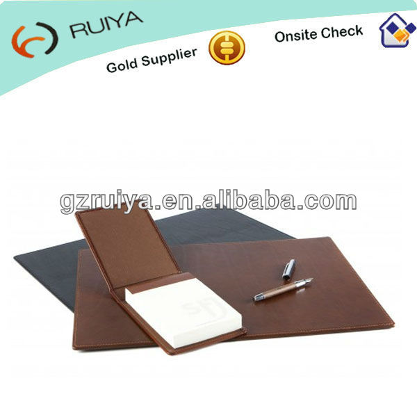 Large PU Leather Desk Mat Black & brown Square Leather Desk Pad for Office & home--JC-013