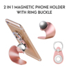 360 degree rotation 2 in 1 magnetic ring buckle phone holder