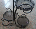 Coaster Garden Plant / Phone Stand Corner Table Black Wrought Iron