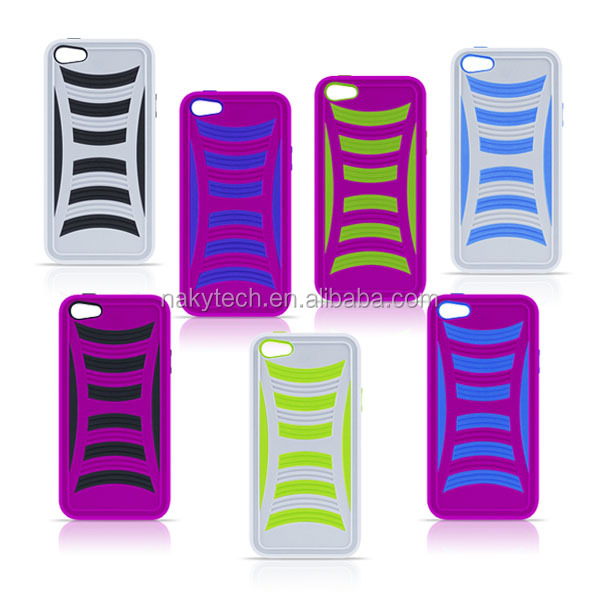 colorful plastic combo case for smartphone