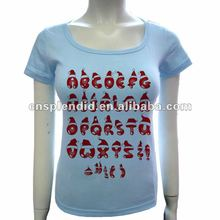 Indonesia 26 letters chrismas gift t shirt fitted