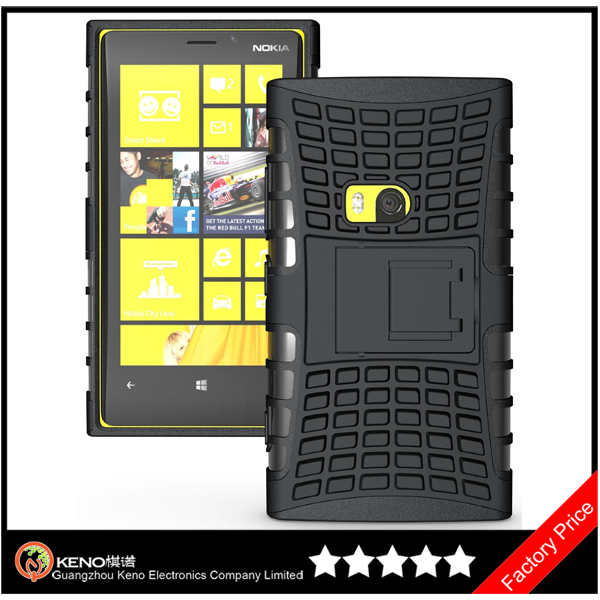 Keno For Nokia Lumia 920 TPU+PC Heavy Duty Dual-layer Rubber Kick Stand Case Cover