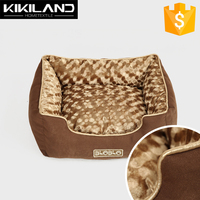 Luxury Chocolate Gold Edition Coffee Suede Fabric Dog Bed