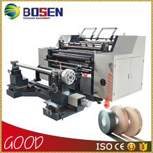 2016 New Automatic High Quality Cheap Non Woven Fabric Paper Bopp Tape Lable Ttr Jumbo Plastic Film Roll Slitting Machine