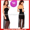 HC 4021 New Fashion Sexy Offshoulder Black Chiffon Short Front Long Back Cocktail Dresses