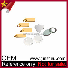 Wholesale Logo Engraved Stamping Small Custom Metal Jewelry Tags