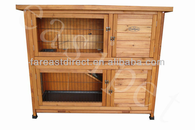 Wooden Rabbit Guinea Pig Ferret Hutch 4 foot Two Tier 1220mm Wood Pet House