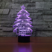 FS-3606 3D Night Light Led Acrylic Lamp New Christmas Tree 3D Illusion Lights