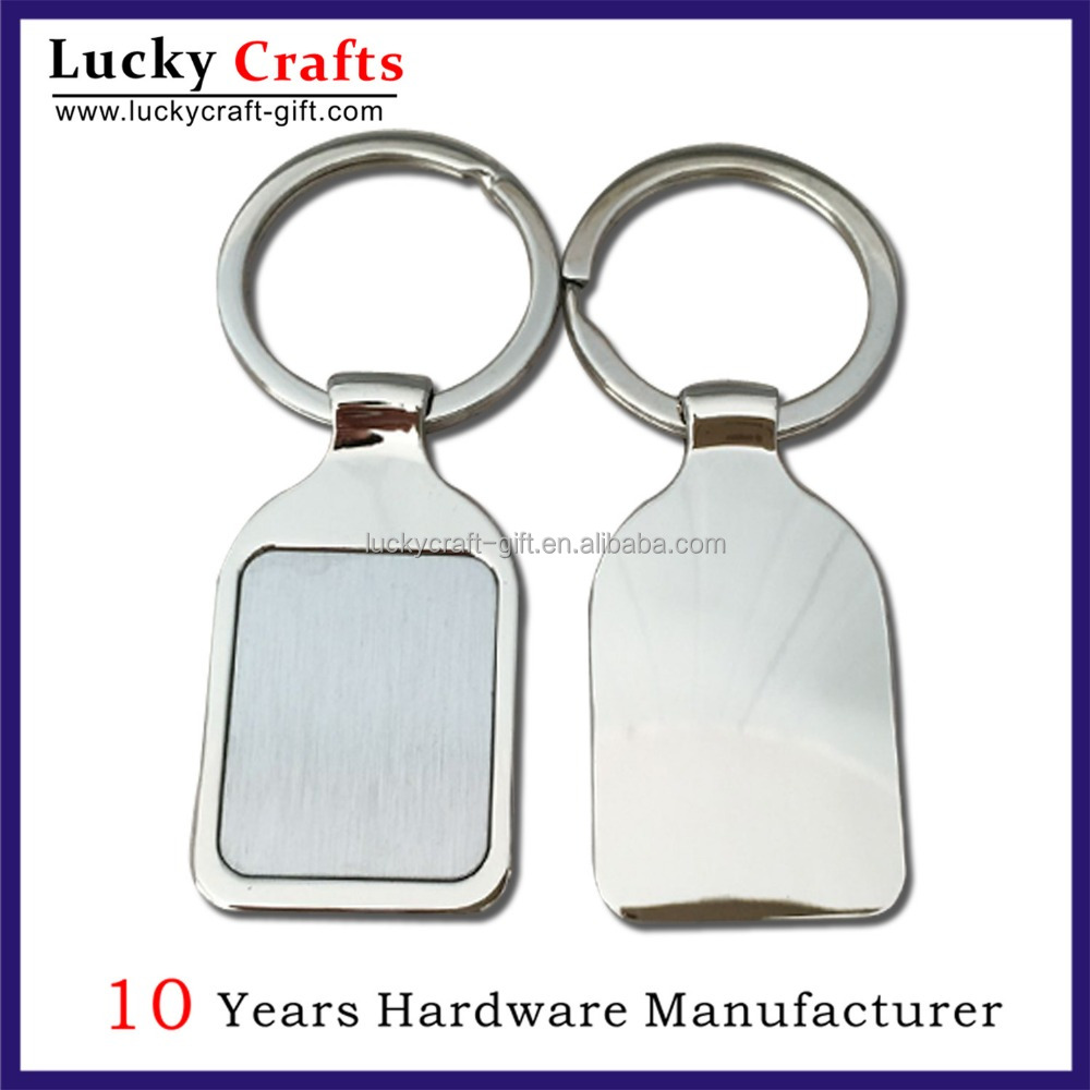 High Quality Custom Blank House Shape Metal Keychain