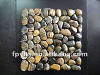 Stripe Tiger Color Pebble Stone River Rock