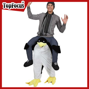 Wholesale Penguin Mascot Costume Adult Carry me Costume