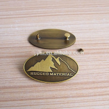 high quality antique copper oval button brass name plates