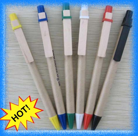 top quality cheap paper souvenir pen,recycled pen,eco-friendly eco ballpoint ball pen