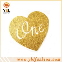 love one letters heart design factory gold hotfix glitter transfer