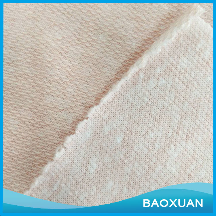 Organic Polyester Rayon cotton Flannel Fabric French Terry Fleece Knitting Fabric for Sportswear,etc.