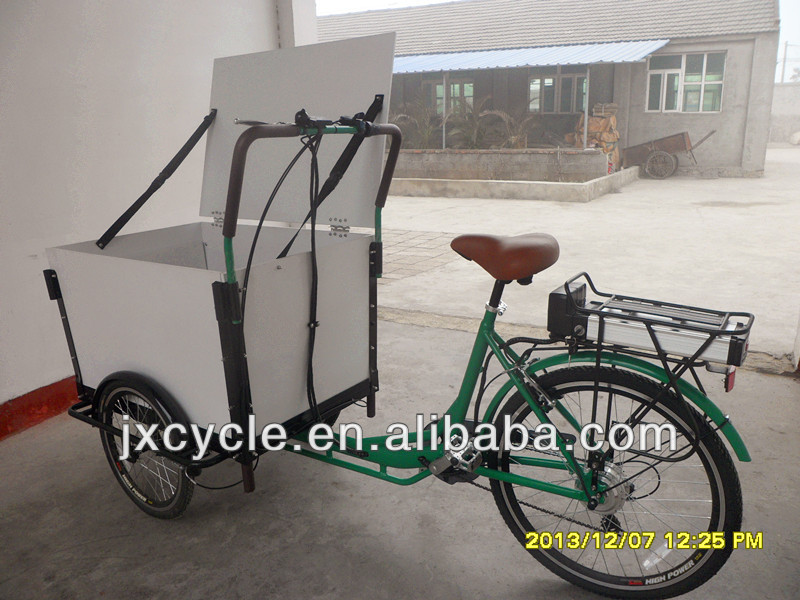 electric ice cream cargo tricycle