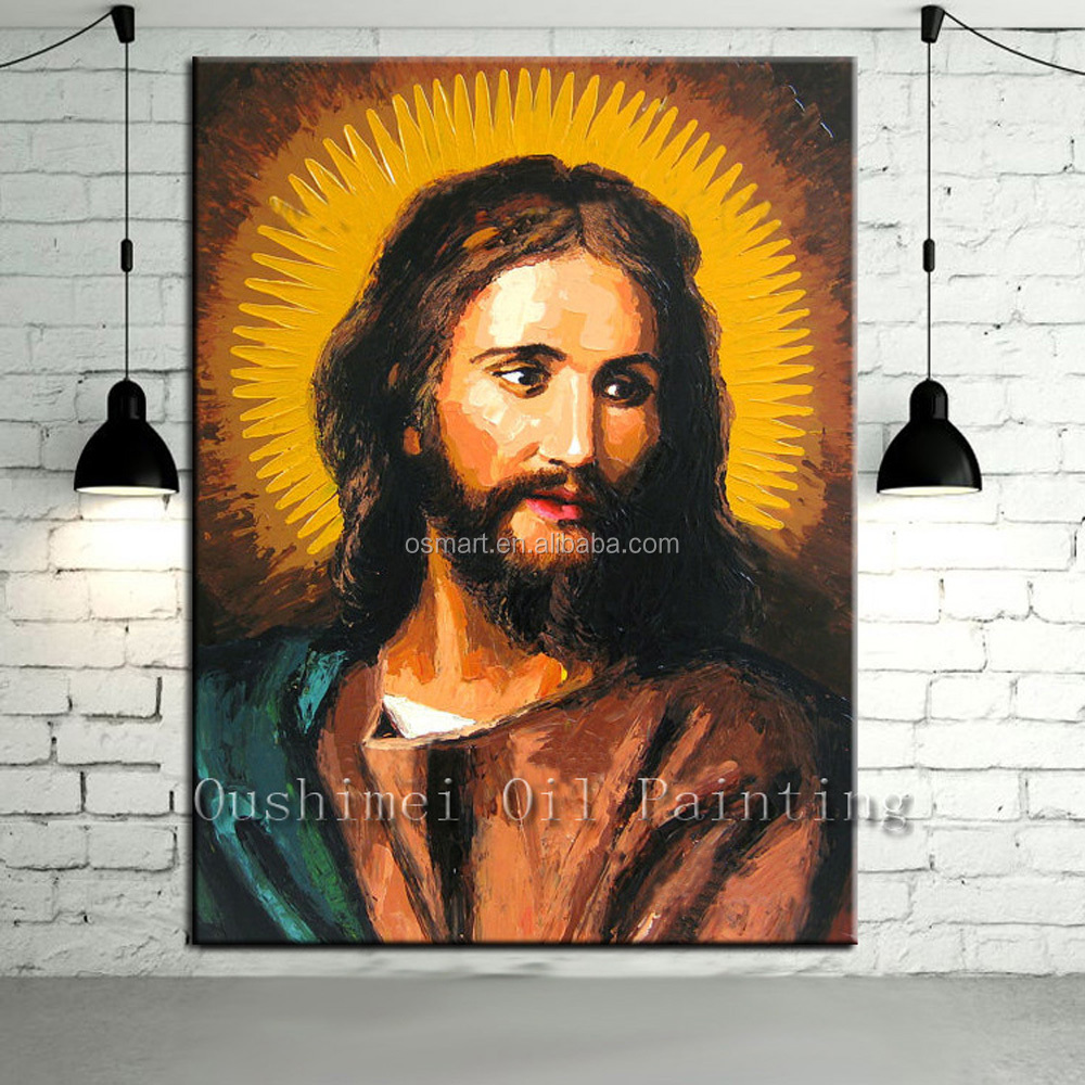 Top Manufacturer Supply High Quality Hand-painted Portrait Jesus Christ Oil Painting On Canvas Jesus Christ Oil Paintings