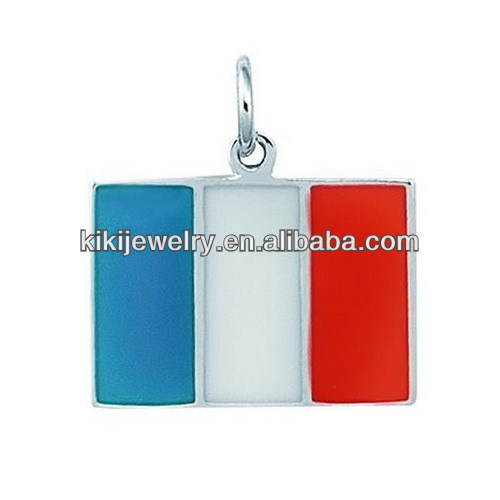 2014 new products color enamel Italian Flag charm
