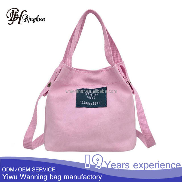 AL-188 Cheapest Young girl school Candy color canvas Messenger Bags with handle
