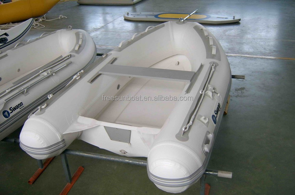 2.7m small inflatable fiberglass bottom RIB boat