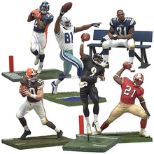 OEM famous football player figure toy mini 3d model action figure for kids