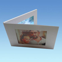 "7"" LCD video Greeting Card with photo pocket"