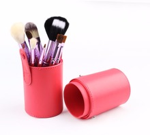 Cylindrical Bag Custom Makeup Brush Set Makeup Tools Set of 12 Pcs