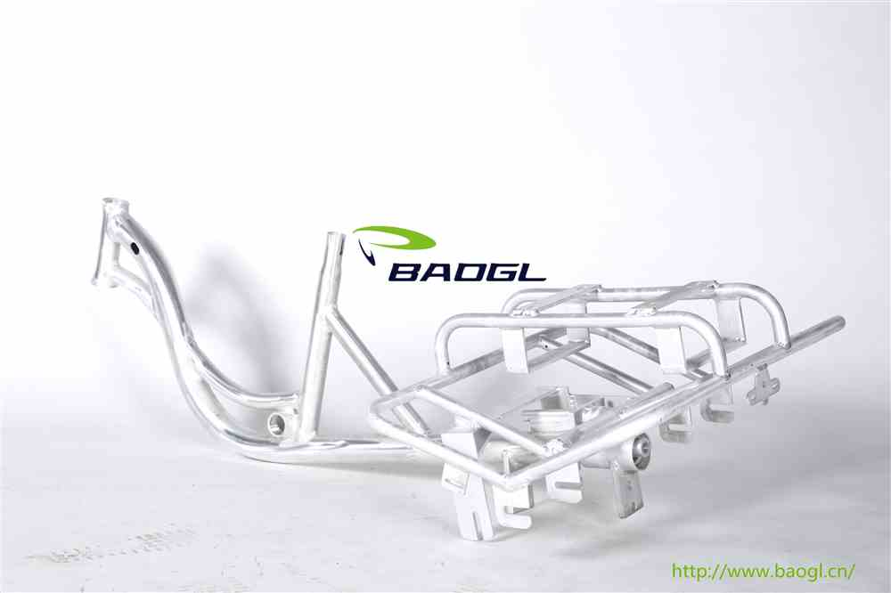 bicycle frame for handicapped bicycle
