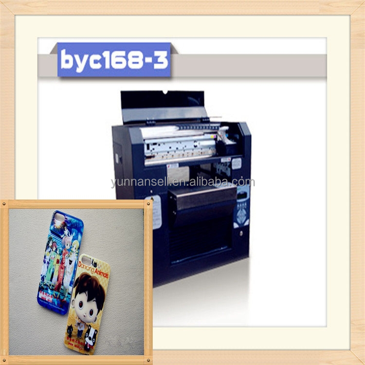 2015 new arrival BYC digital phone case 3d printer/<strong>mobile</strong> phone sticker printer