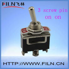 2 way 3 pin on on panel mount toggle switch