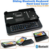 New Sliding Mini Wireless Bluetooth Keyboard for Samsung Galaxy S5 i9600 Iphone 5 5S Android Bluetooth Keyboard Hard Case Cover
