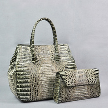 handmake natural Crocodile skin ladies tote bag leather fashion tote handbags women