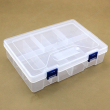 High Quality 2 Layer 8 Compartments Transparent Plastic Storage Box