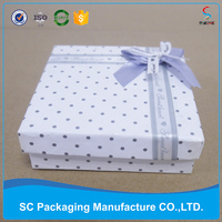Hot sell paper Gift Box,wedding gift box with ribbon