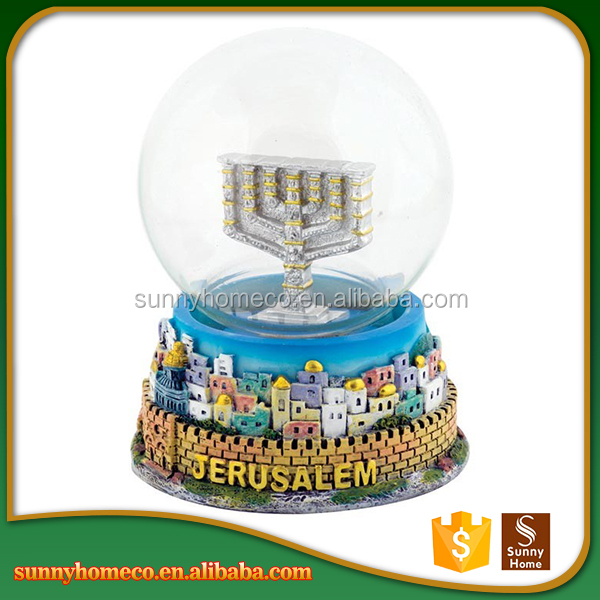 Custom fantasy castle resin crafts wholesale cheap snow globes city