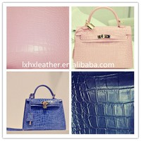 Bag material,Crocodile pu leather for bag making material,bag leather DH004