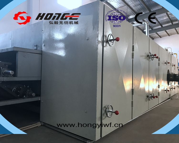 HongYi -ISO9001 high capacity soft polyester wadding production line for nonwoven