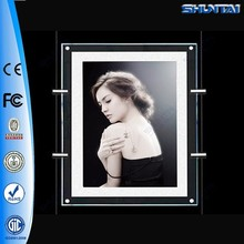 Double Sides Slim Poster Acrylic LED Light Pockets A4 Size