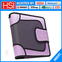 good quality 3ring zipper binder fit tablets
