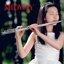 Professional Chinese 16 Open/Closed holes silver plated metal musical instrument flute
