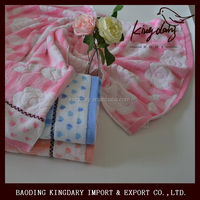 New flower design high quality cotton jacquard bath towel