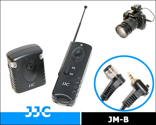 JJC 16 Channels Wireless Shutter Remote Control Release Replace Canon RS-80N3 for Canon EOS 50D/5D/5D Mark III/7D etc.