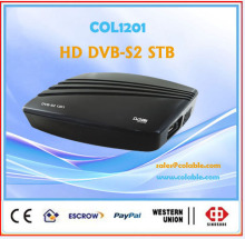 dvb s2 fta satellite receiver,digital tv converter box dvb-s2 hd to analog converter COL1201